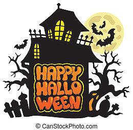 tema, 2, halloween, felice