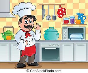 tema, 2, imagen, cocina