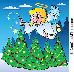 tema, 2, immagine, angelo