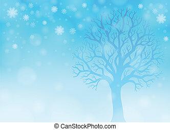 tema, 2, inverno, immagine, foresta