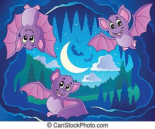 tema, 2, pipistrelli, immagine