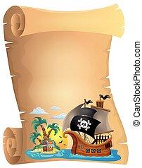tema, 2, pirata, immagine, rotolo