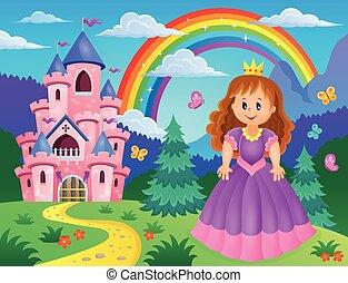 tema, 2, principessa, immagine
