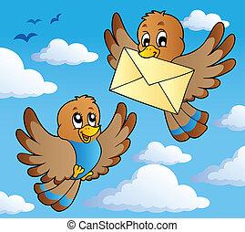tema, 2, uccello, immagine