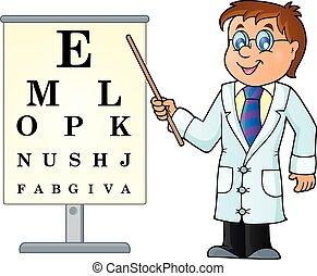 tema, 3, avbild, läkare