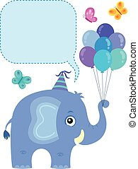 tema, 3, copyspace, elefante