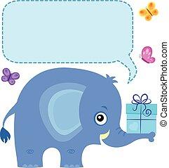 tema, 4, copyspace, elefante