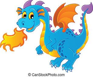 tema, 4, imagen, dragón