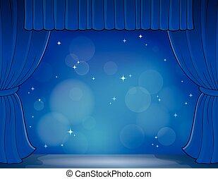 tema, 4, immagine, palcoscenico