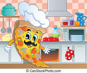 tema, 5, immagine, cucina