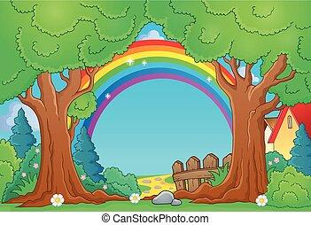 tema, albero 4, paesaggio