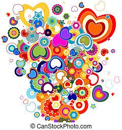 tema, amore, disegno, astratto