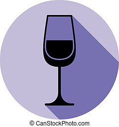 tema, appuntamento, alcool, vino, wineglass, sofisticato, classico, elegante, idea., romantico, calice, illustration.