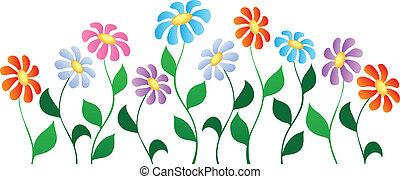 tema, blomma, avbild, 3