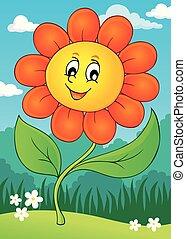 tema, blomst 4, image, glade