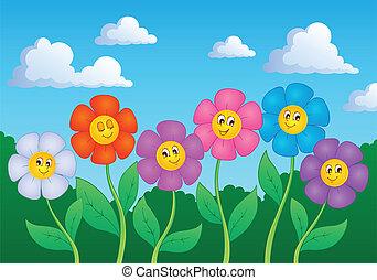 tema, blomst, image, 6