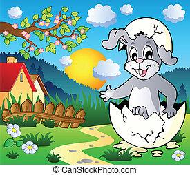 tema, bunny easter, imagem, 3
