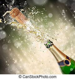 tema, champanhe, respingue, celebração