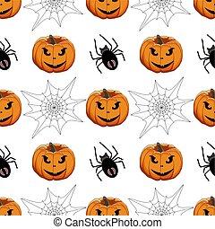 tema, coloreado, patrón, halloween, ilustración, grande