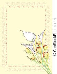 tema, com, flores