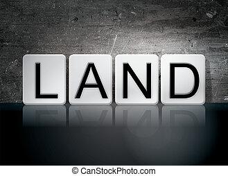 tema, concepto, cartas, embaldosado, tierra
