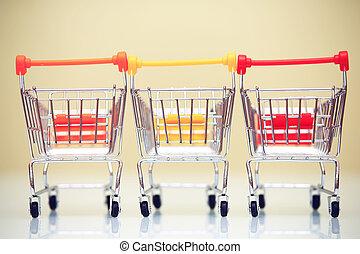 tema, concetto, shopping