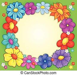 tema, cornice, 2, fiore