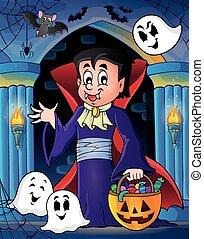 tema, dia das bruxas, vampiro, imagem, 4
