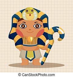 tema, elementer, pharaoh