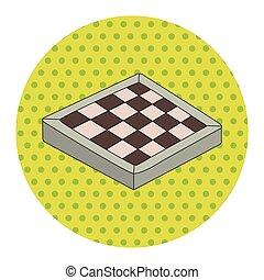 tema, elementos, junta xadrez