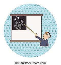 tema, elementos, orthopedist, eps, hospital, vector