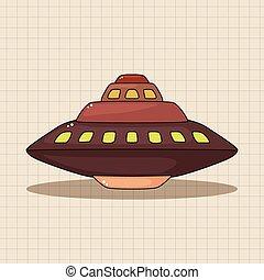 tema, elementos, ufo