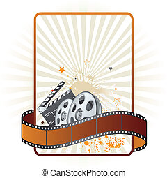 tema, film, film, striscia, elemento