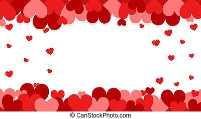 tema, fondo, cuori, valentina, rosso