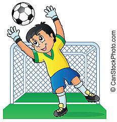 tema, fotboll, avbild, 3