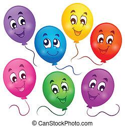 tema, globos, imagen, 4