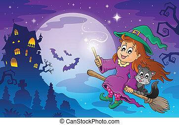 tema, halloween, avbild, 7