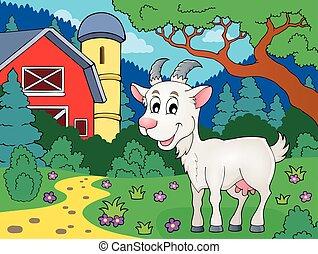 tema, imagen, 4, goat