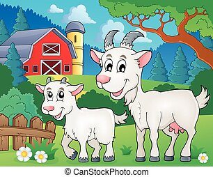 tema, imagen, goat