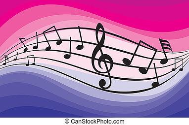 tema, música, notes), (music