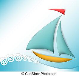 tema, mar, ilustração