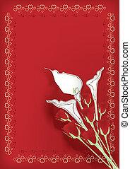 tema, med, blomningen