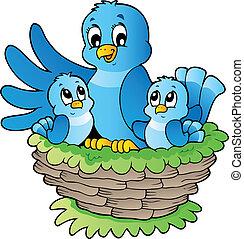 tema, pájaro, imagen, 3