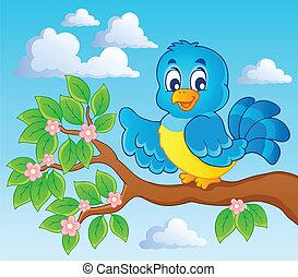 tema, pássaro, imagem, 7