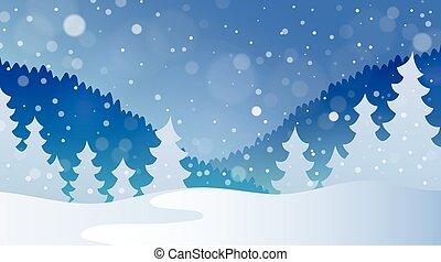 tema, paesaggio inverno, 4