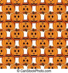 tema, patrón, coloreado, halloween, ilustración, grande