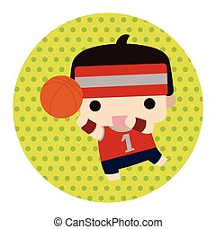 tema, pelota, elementos, deportes
