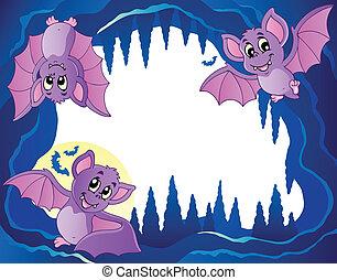 tema, pipistrelli, immagine, 3