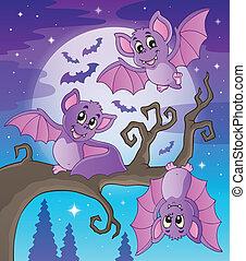 tema, pipistrelli, immagine, 4