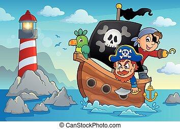 tema, pirata, bote, 3